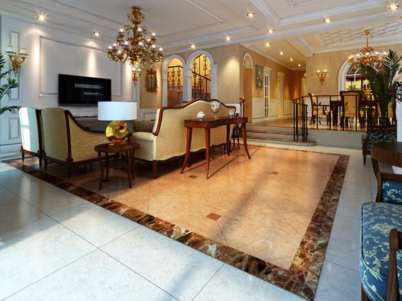 装饰风格:欧式风格 施工内容: 室内装修 案例说明:石家庄纳帕溪谷别墅